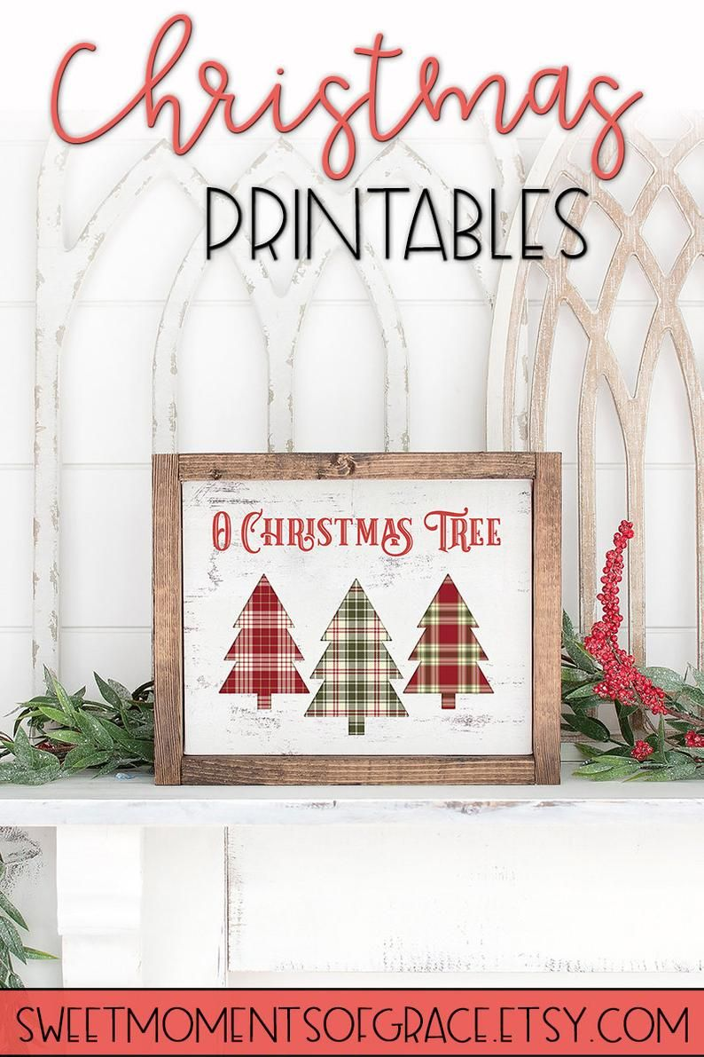 O Christmas Tree Red And Green Plaid Farmhouse Style Printable Christmas Songs Wall Art Seasonal Home Decor Print Rustic Holiday Sign In 2020 Christmas Tree Printable Rustic Christmas Ornaments Christmas Signs