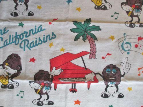 California-Raisins-Beach-Throw-Blanket-Tote-Bag-Vintage-1988-Rare