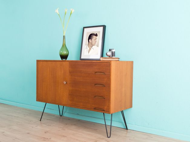 vintage kommoden teak sideboard kommode 60er jahre 50er ein designerst ck redesign. Black Bedroom Furniture Sets. Home Design Ideas