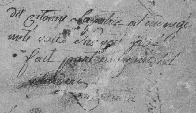 Lettre de Jean Michel Villardery (1792)