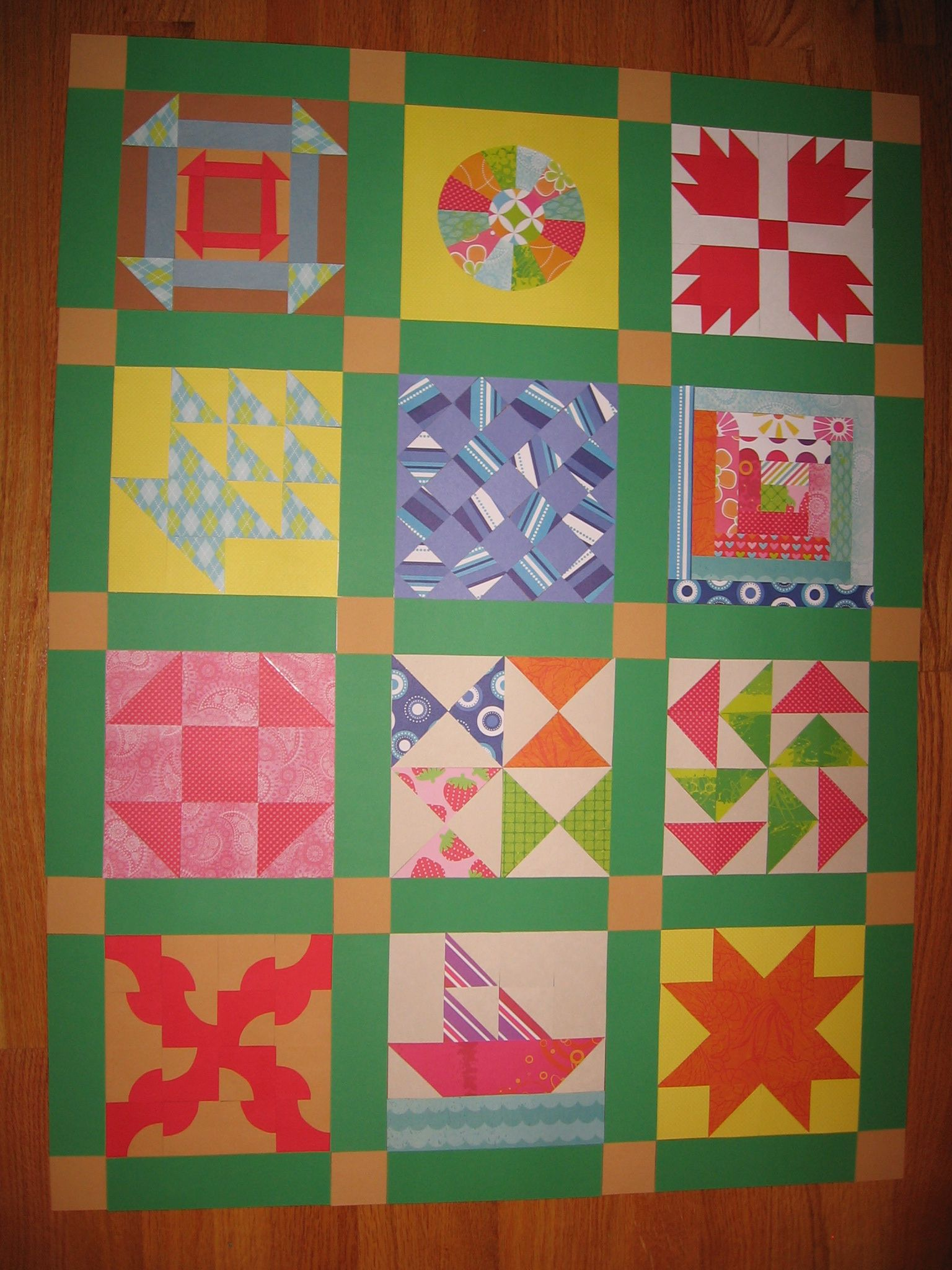 Classroom Paper Quilt Ideas ~ Underground railroad paper quilt thi would be nice with