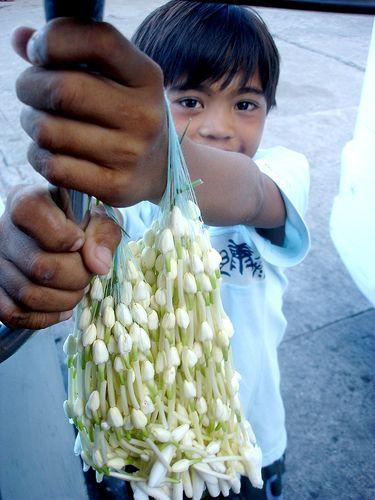 Sampaguita necklaces...Philippines