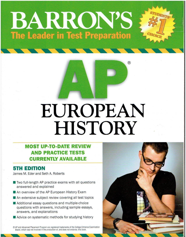 Workbooks ap human geography workbook : Barron's AP European History 5th Edition ©2010 test prep study ...