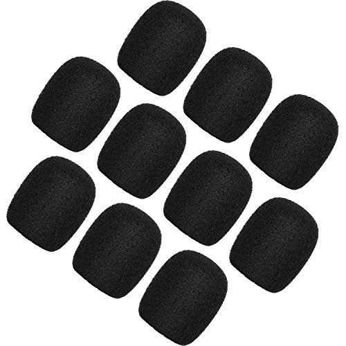 ChromLives Colorful Microphone Cover Microphone Windscreen Foam Cover Top Grade 10 Pack