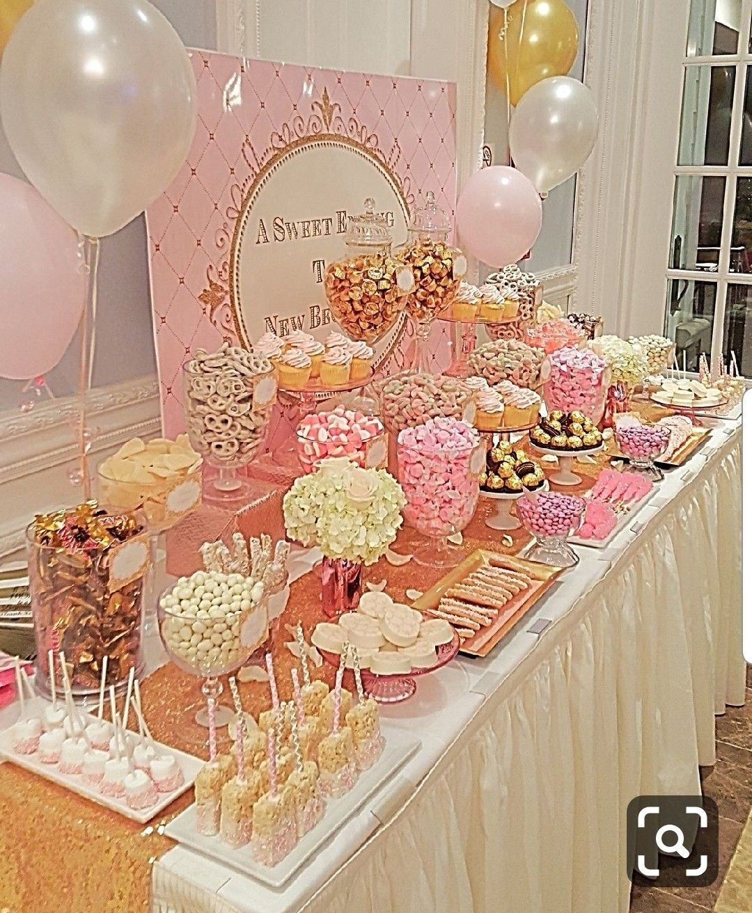 Pin By Sperry Wild On Tah Via And Tories Wedding Baby Shower Candy Table Pink Candy Table Baby Shower Candy