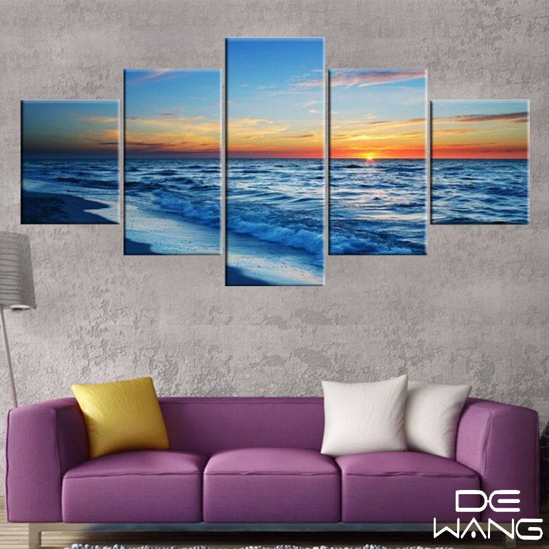 SUNSET AUTUMN LANDSCAPE CANVAS WALL ART PRINTS FRAMED PICTURES HOME OFFICE PHOTO