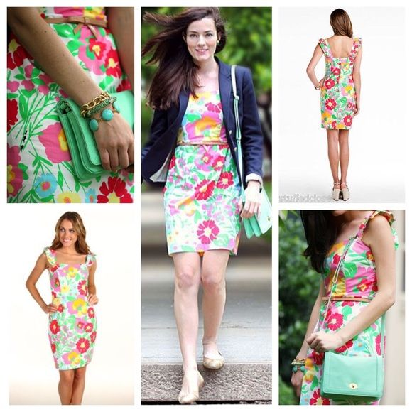 13ff3de152ae0f Lilly Pulitzer Sarafina Dress Print is Garden by the Sea. Size 14. New with  tags. Flutter sleeves and pretty silhouette! Lilly Pulitzer Dresses