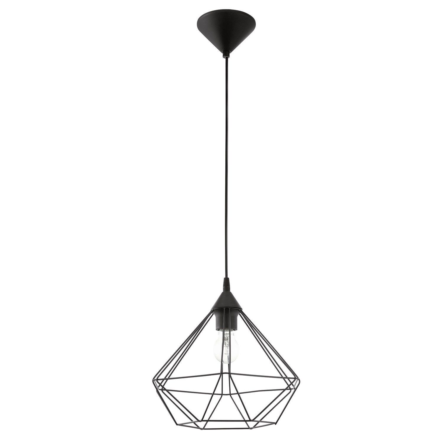 Suspension E27 Style Industriel Tarbes Métal Noir 1 X 60 W Eglo Suspension Luminaire Deco Luminaire Lampe à Suspension