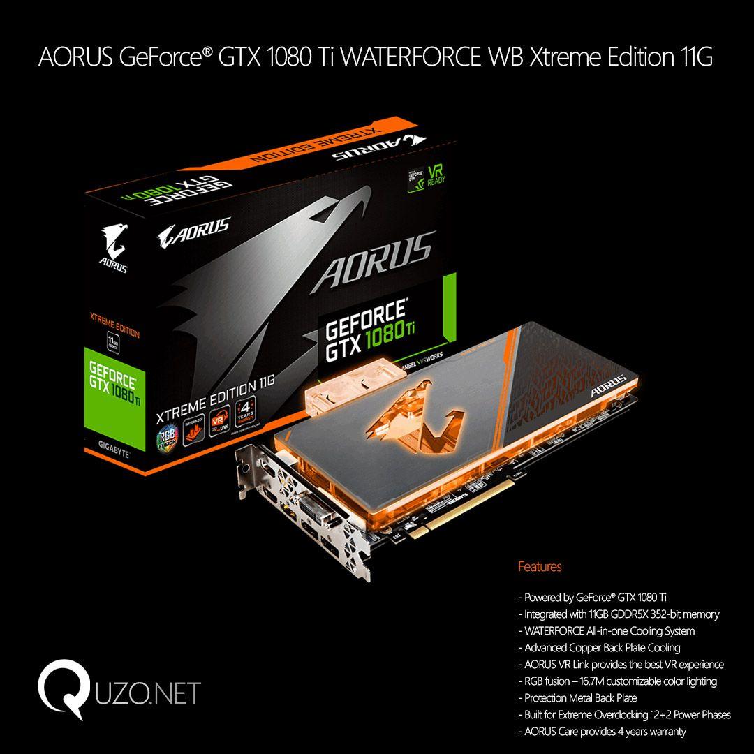 Gigabyte AORUS GeForce GTX 1080 Ti Waterforce WB Xtreme