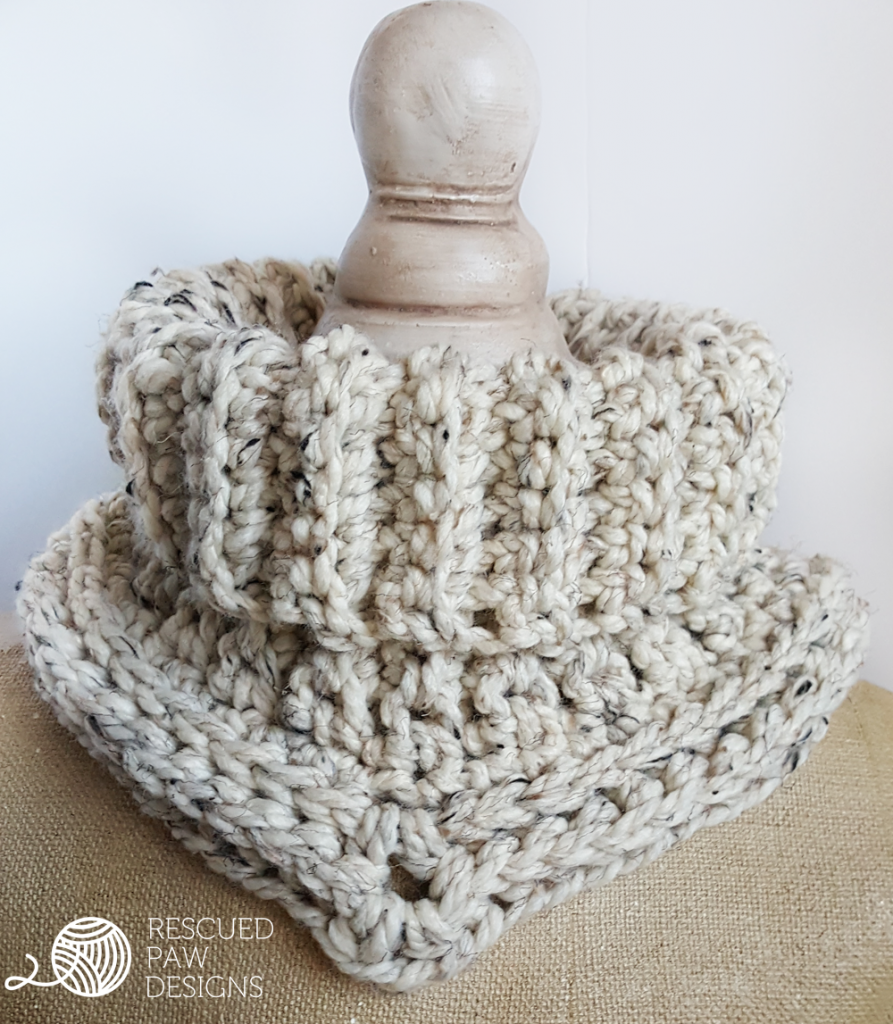 Cara Cowl Crochet Pattern in Spanish - Rescued Paw Designs | cuellos ...