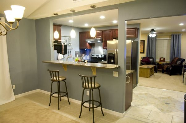 Kitchen remodel home kitchen pinterest galley for Open up galley kitchen to living room