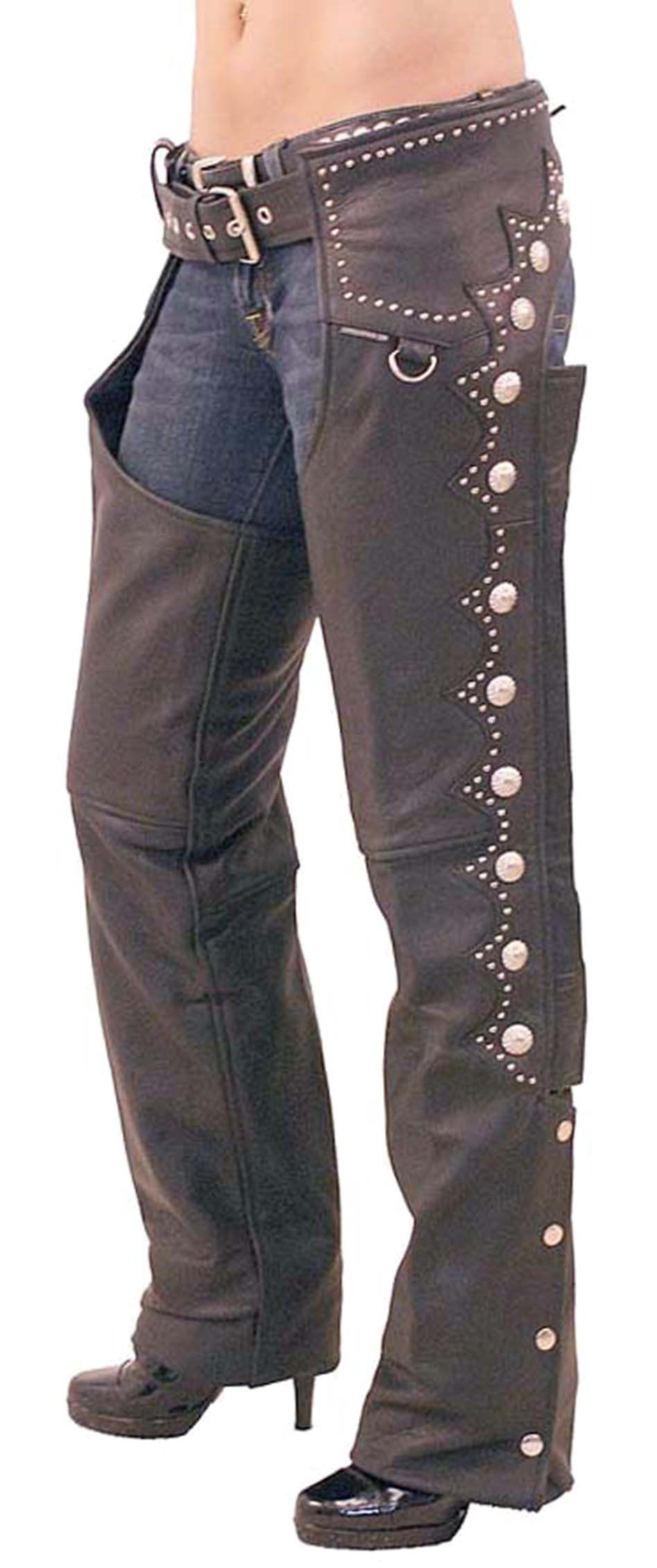 First Manufacturing Rally Leather Chaps | Motorcycle chaps