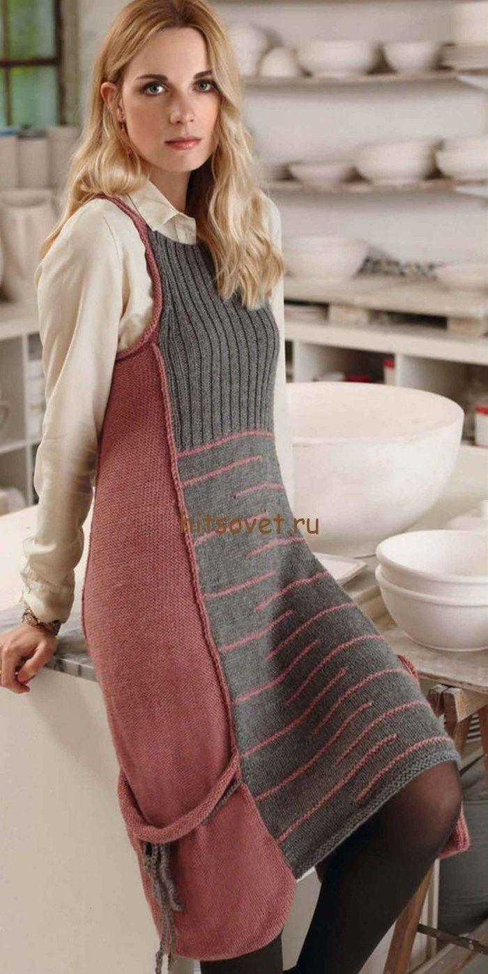 модный сарафан спицами фото вязание для женщин вязание платья