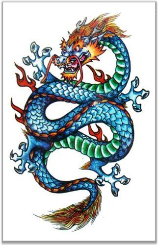 Mythic Dragon Full Color Temporary Tattoo 83 By Bewild 2 99 Mythic Dragon Full Color Temporary Tat Dragon Tattoo Dragon Tattoo Designs Small Dragon Tattoos