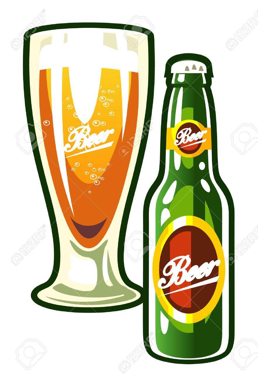 Stock Photo Con Imagenes Vaso De Cerveza Botellas