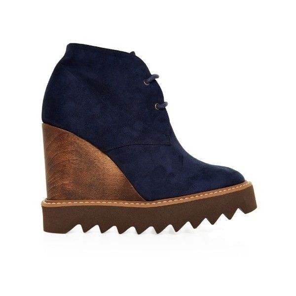 555e13c8400 Stella McCartney Leana lace-up faux-suede wedge boots (2