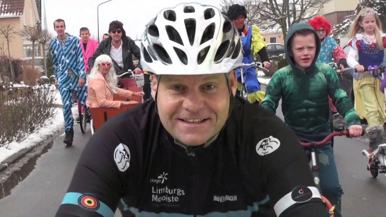 Prins Okkie, de eenzame fietser; Februari 2017 Carnaval Zwaag Familie Brandhoff