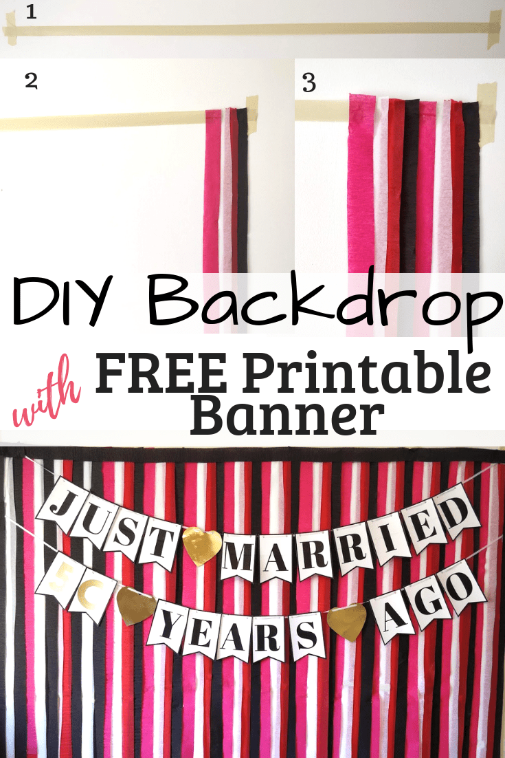 DIY party ideas streamer backdrop #streamerbackdrop