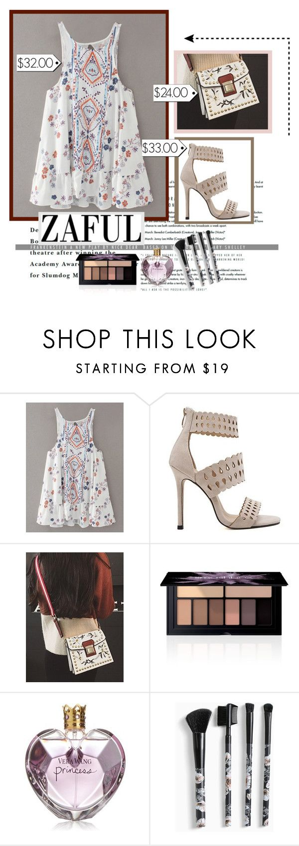 """""""Cute dress"""" by merimarahmanovic ❤ liked on Polyvore featuring Smashbox, Vera Wang, Torrid and vintage"""
