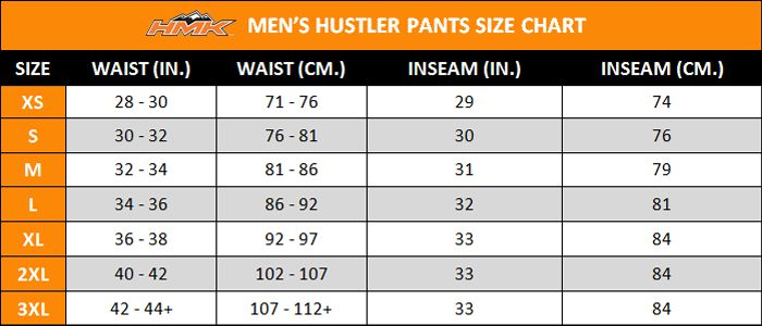 Mens Pants Size Chart Google Search