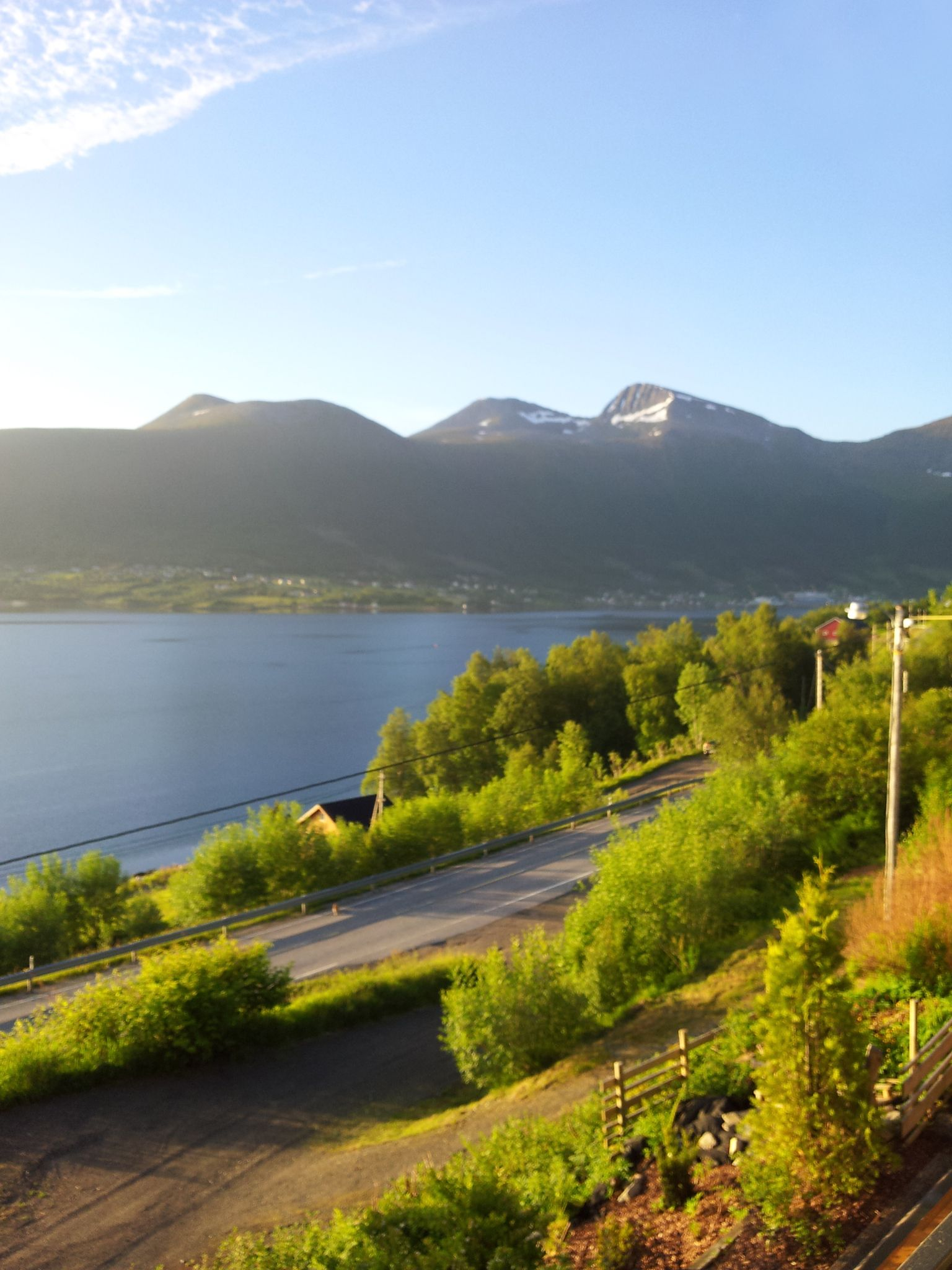 Early morning over Tomrefjorden, Norway. It's 05:15 in the morning on June 21. 2013 and this is the view from my kitchen window.