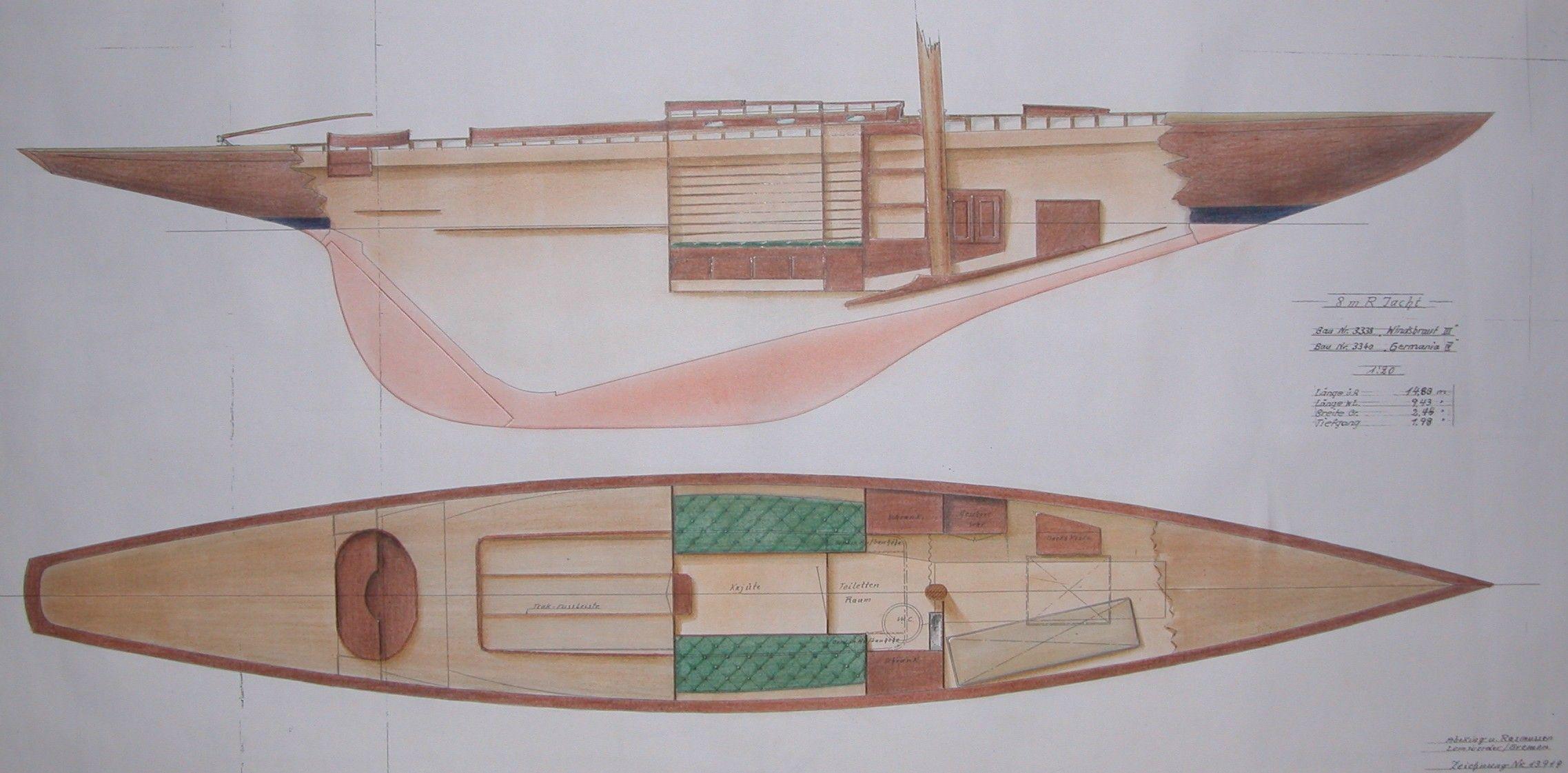 8mr yacht windsbraut pl ne von 1939 8mr yacht 8mji pinterest bootsbau segeln und boote. Black Bedroom Furniture Sets. Home Design Ideas