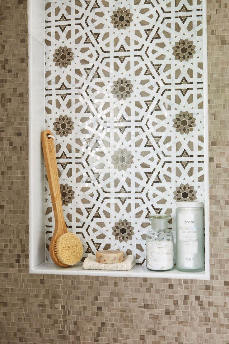 walker zanger villa doro granada cafe in the carriage house bathroom shower of the moroccan tile backsplashmosaic - Mosaic Tile House 2015
