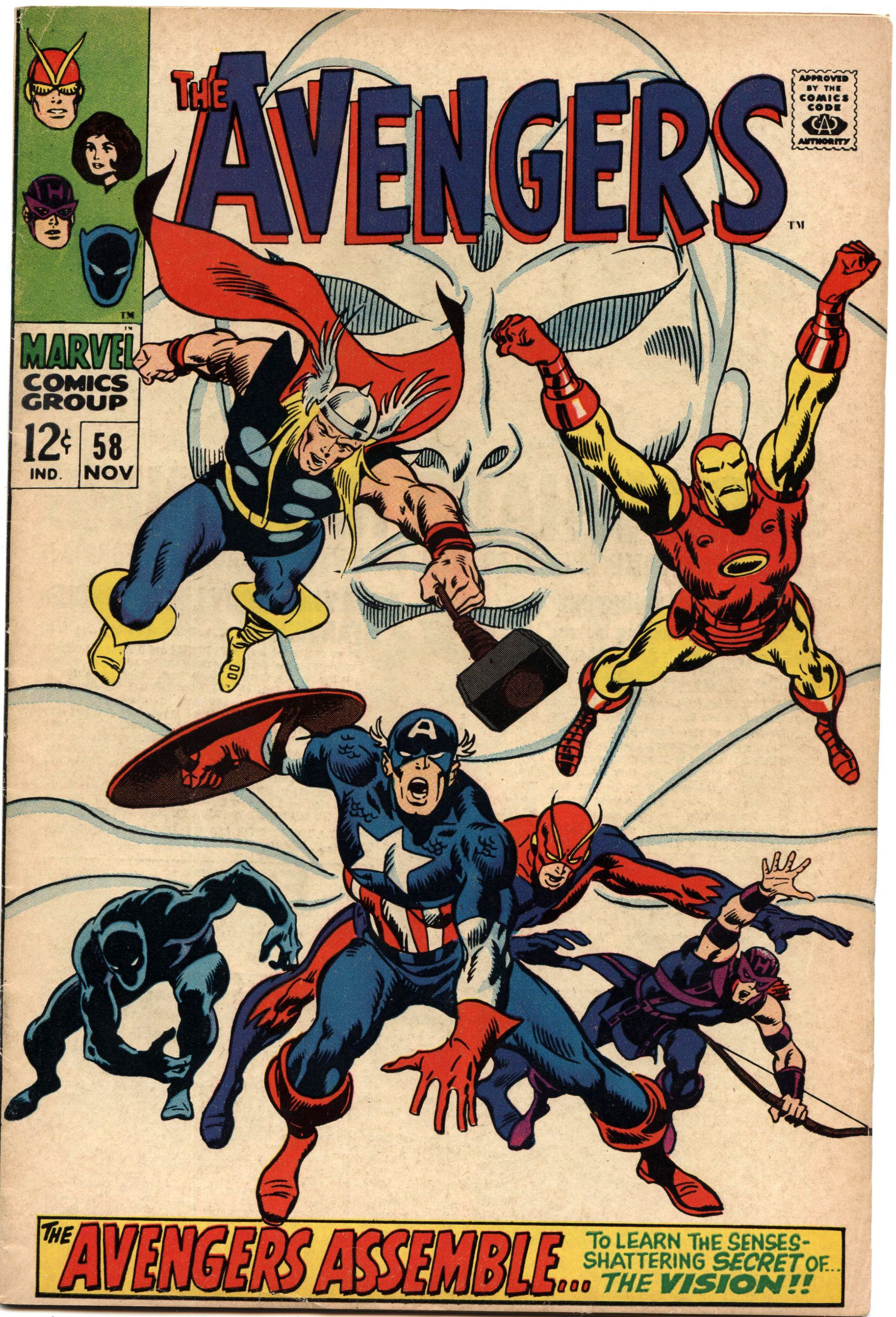 Giant Size Avengers Cover Thor Iron Man Captain America And Black Panther Prints By John Buscema