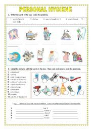 Worksheet Hygiene Worksheets For Adults worksheets vocabulary and on pinterest