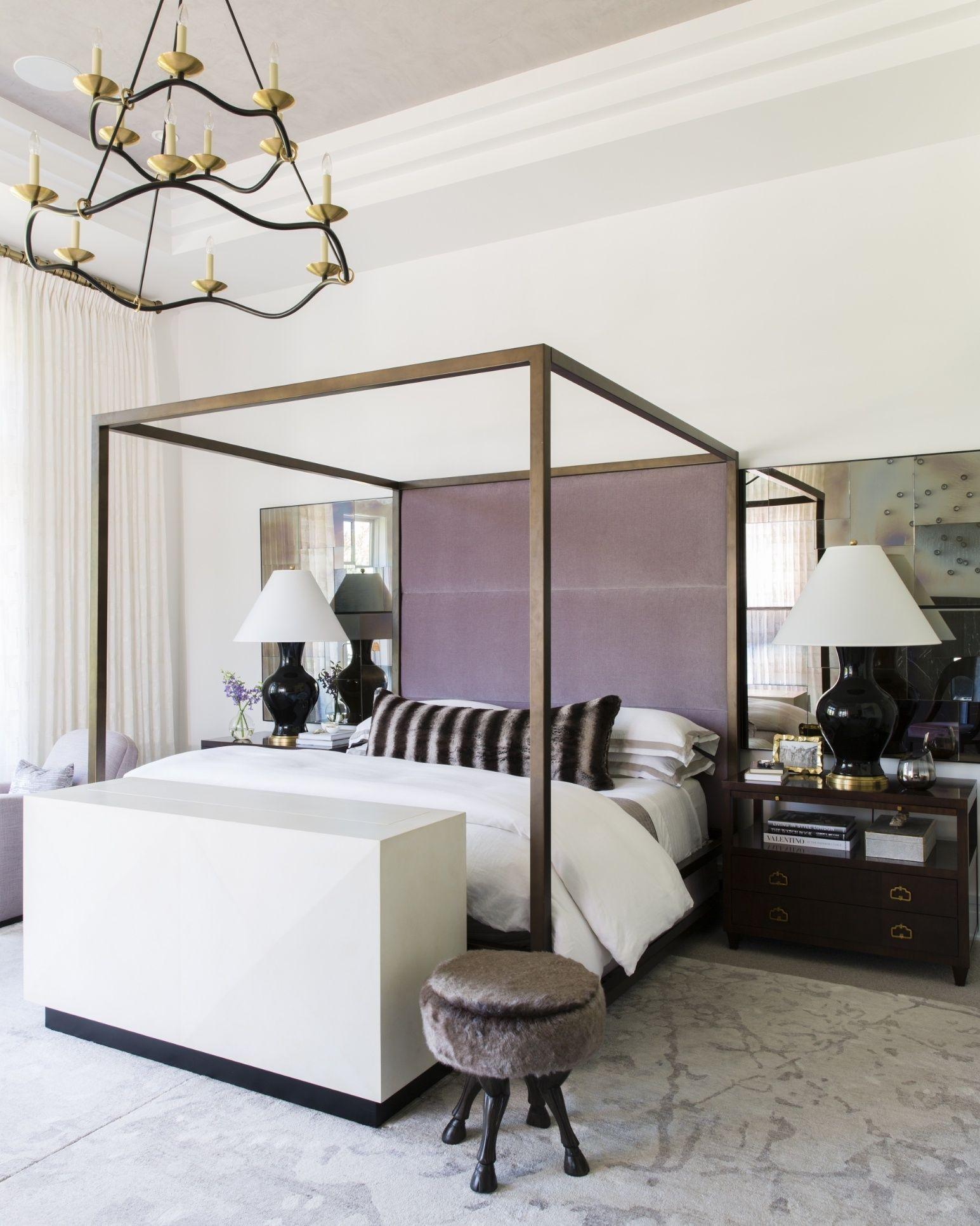 Master bedroom modern  Tour A Coastal Contemporary Dream Home In The Unlikeliest Locale