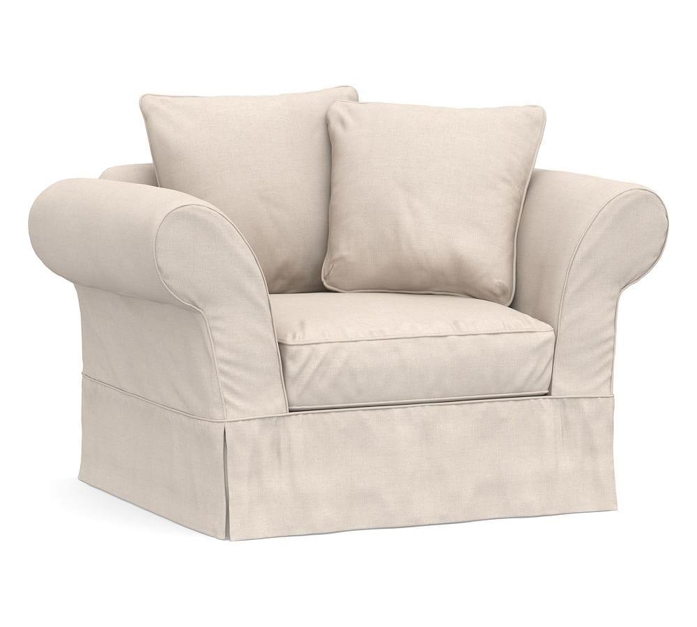 Charleston Slipcovered Chair And A Half Slipcovers For Chairs Chair And A Half Slipcovers