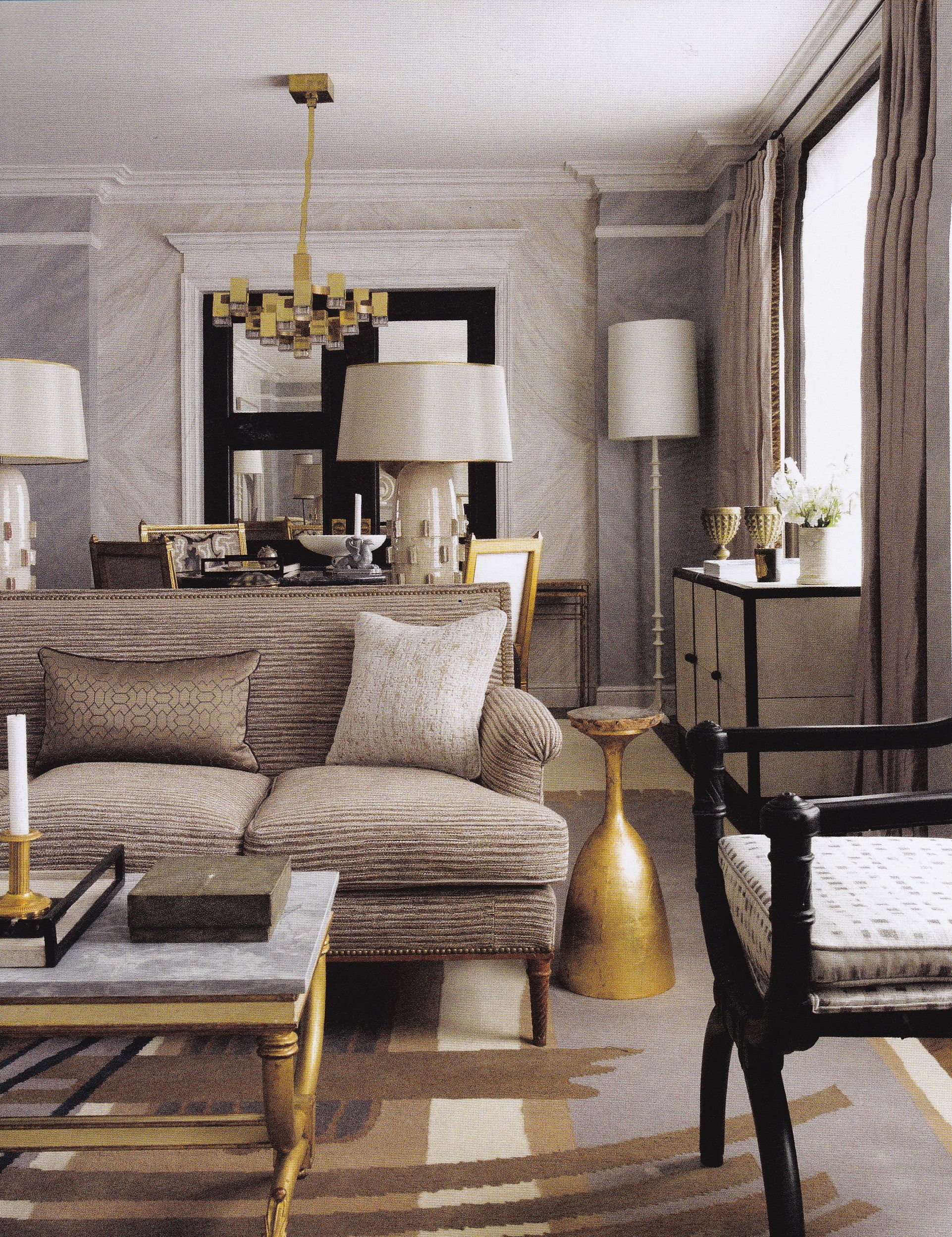 Jean Louis Deniot  London Apt  Ad Italia March 2014 Inspiration Living Room Design 2014 Decorating Inspiration