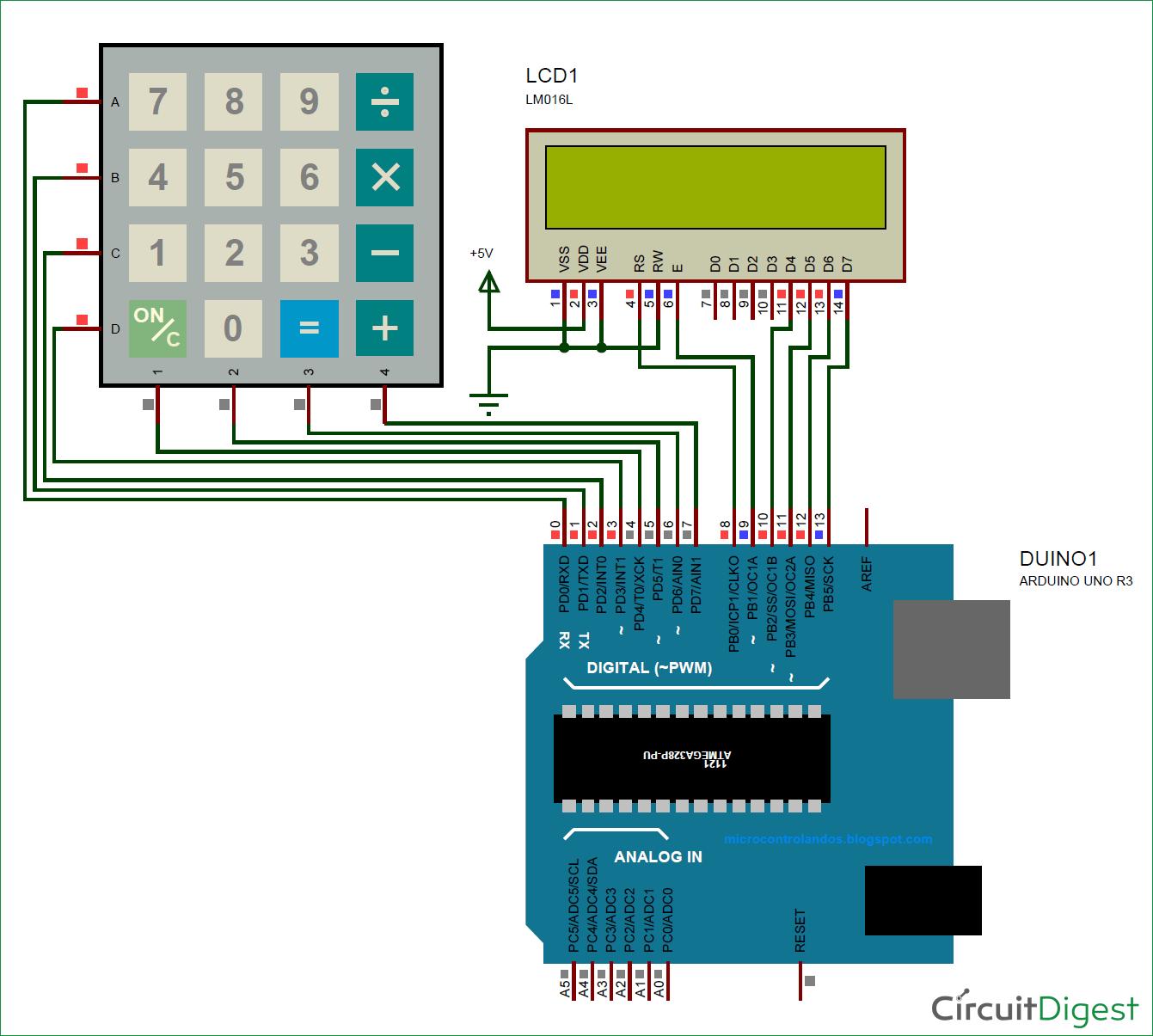Arduino Calculator Circuit Diagram | Arduino | Pinterest | Circuit ...