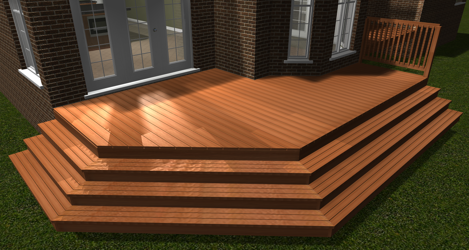 Best Deck Stairs Automatically Miters And Places Stairs Along 400 x 300