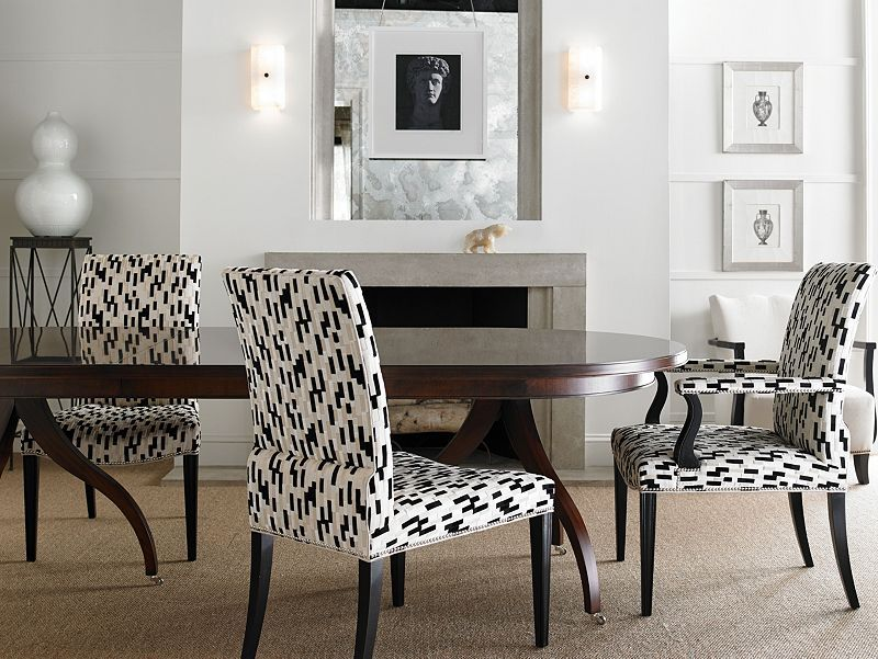 Fabric can change your entire look! Hickory Chair is