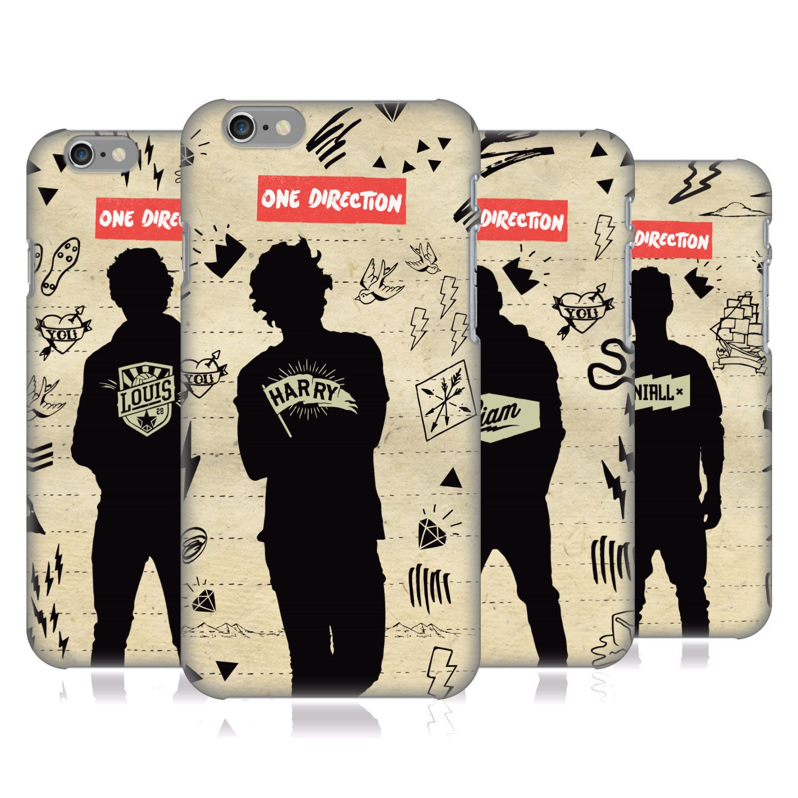 new styles 49087 b775a OFFICIAL ONE DIRECTION 1D SILHOUETTES HARD BACK CASE FOR APPLE ...