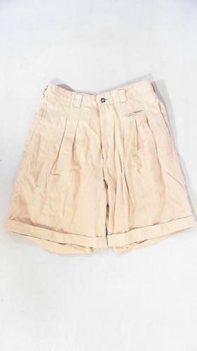 Designer Cave Spring Khaki Mens size 31 Cotton Chino Shorts Solid Casual CHOP