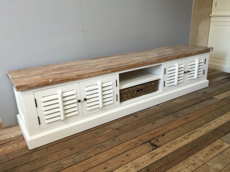 Witte Tv Kast : Asli tv ww teak ral landelijk tv meubel met teak teak