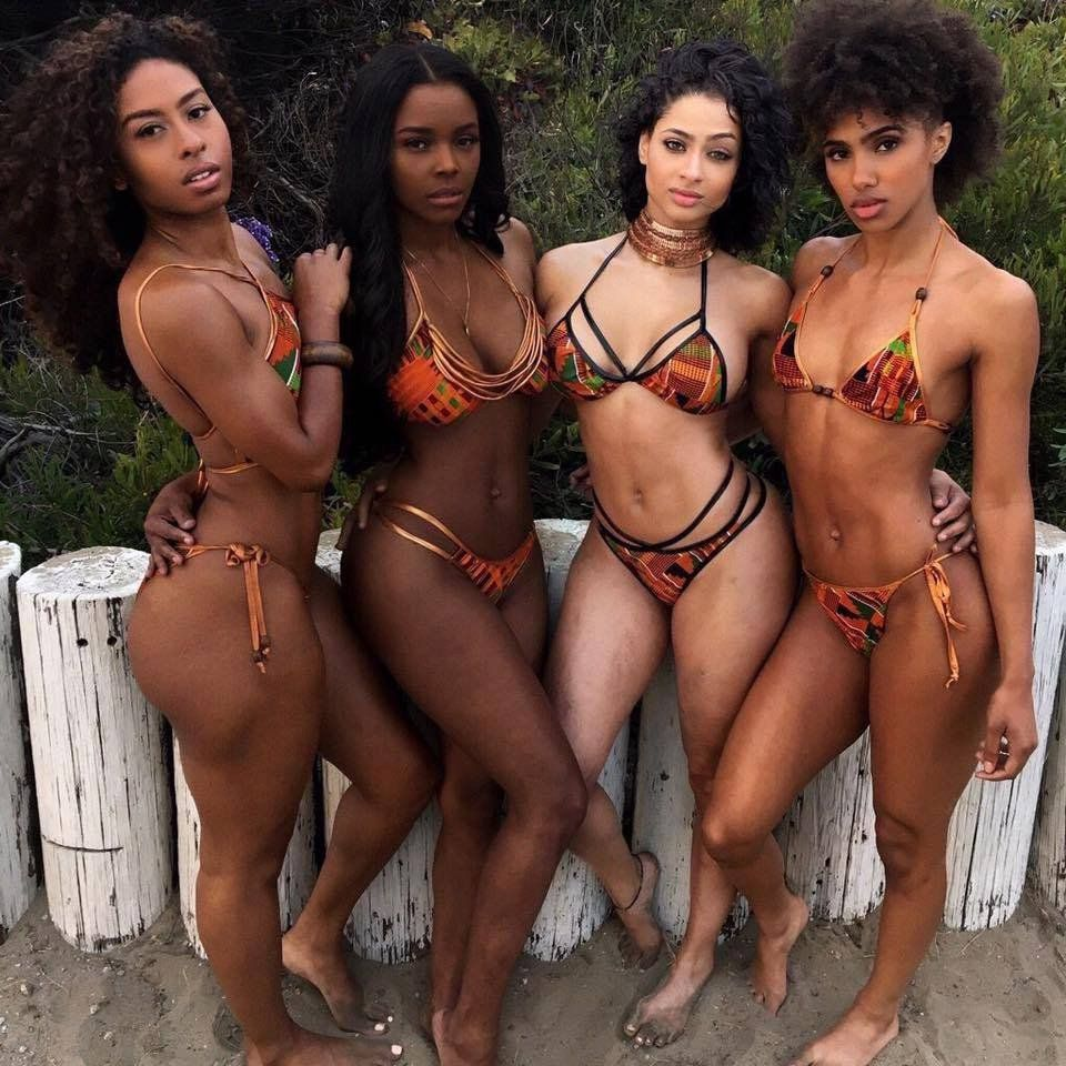 Ebony Threesome Two Dicks