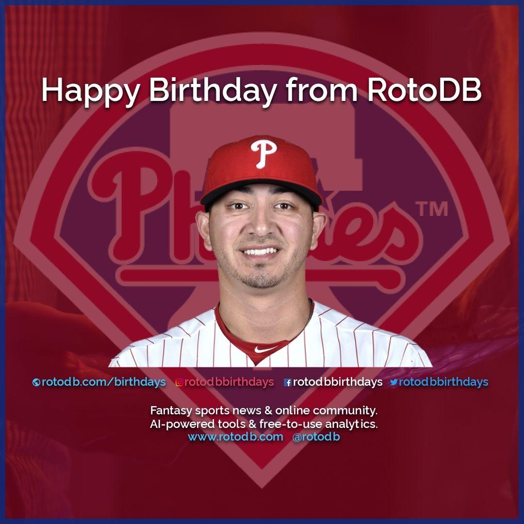Happy 26th Birthday Vince Velasquez Philadelphia Phillies From Rotodb Happybirthday Hbd Birthday Cak Fantasy Baseball Happy 26th Birthday Fantasy Sports