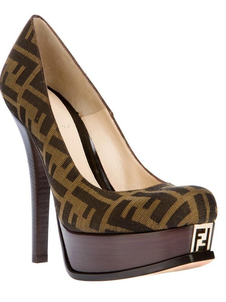 0bcd2613b1f Fendi  shoes  heels  pumps  sandals platform logo