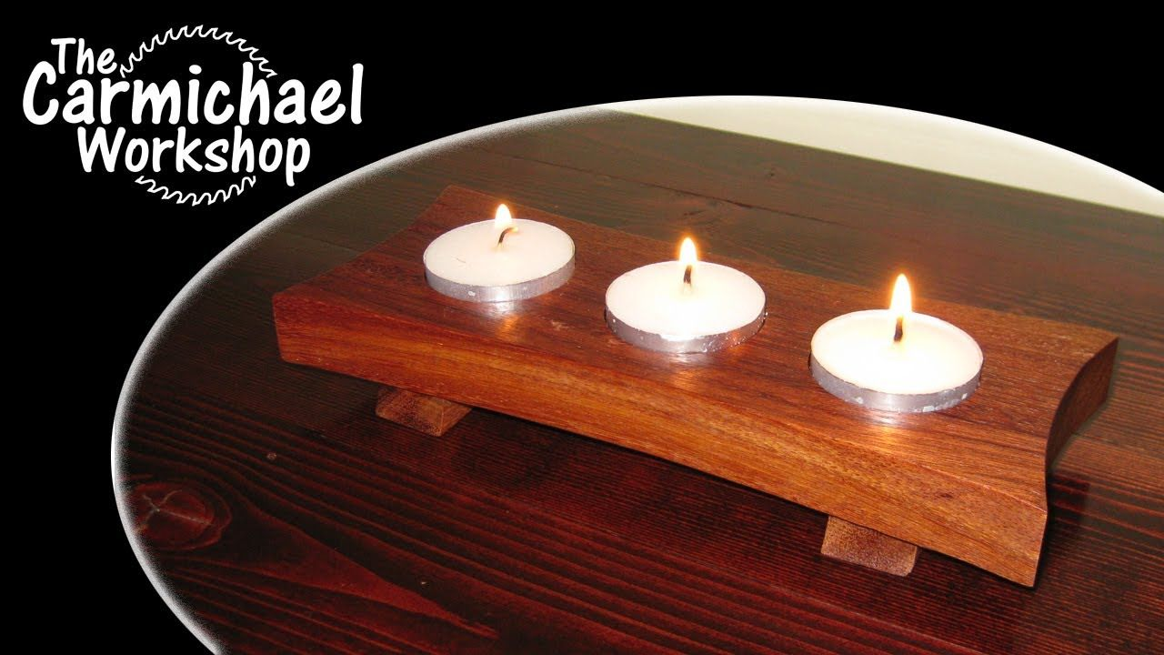 How To Make A Tealight Candle Holder Easy Diy Weekend Project Tea Lights Wooden Candle Holders Diy Candle Holders Wooden