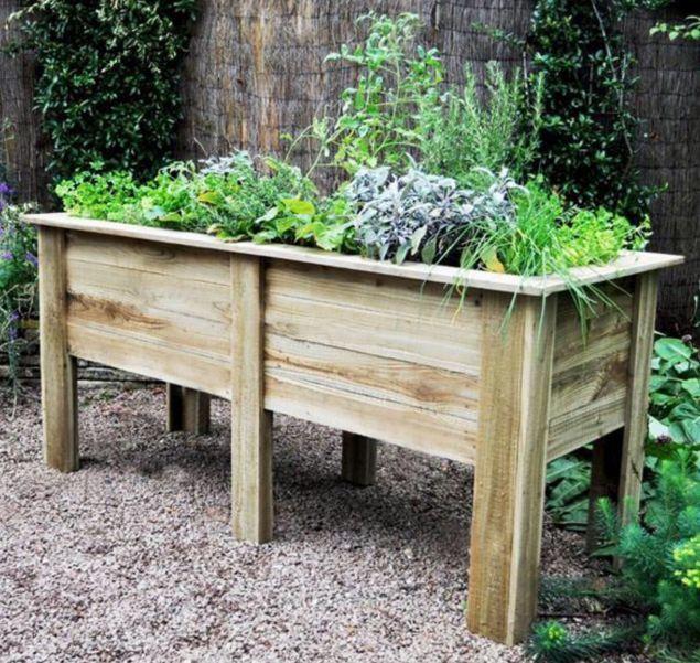 Raised Bed Planter Wooden Flower Box Deep Root Vegetable