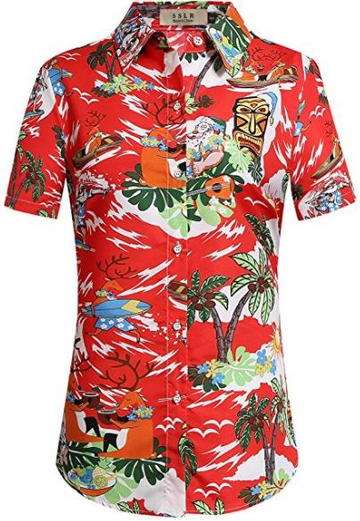 Christmas Hawaiian Shirts.Pin On Hawaiian Shirts For Women