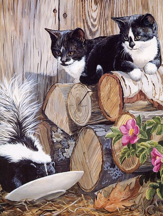 ...NOT a third kitty...  by Persis Clayton Weirs