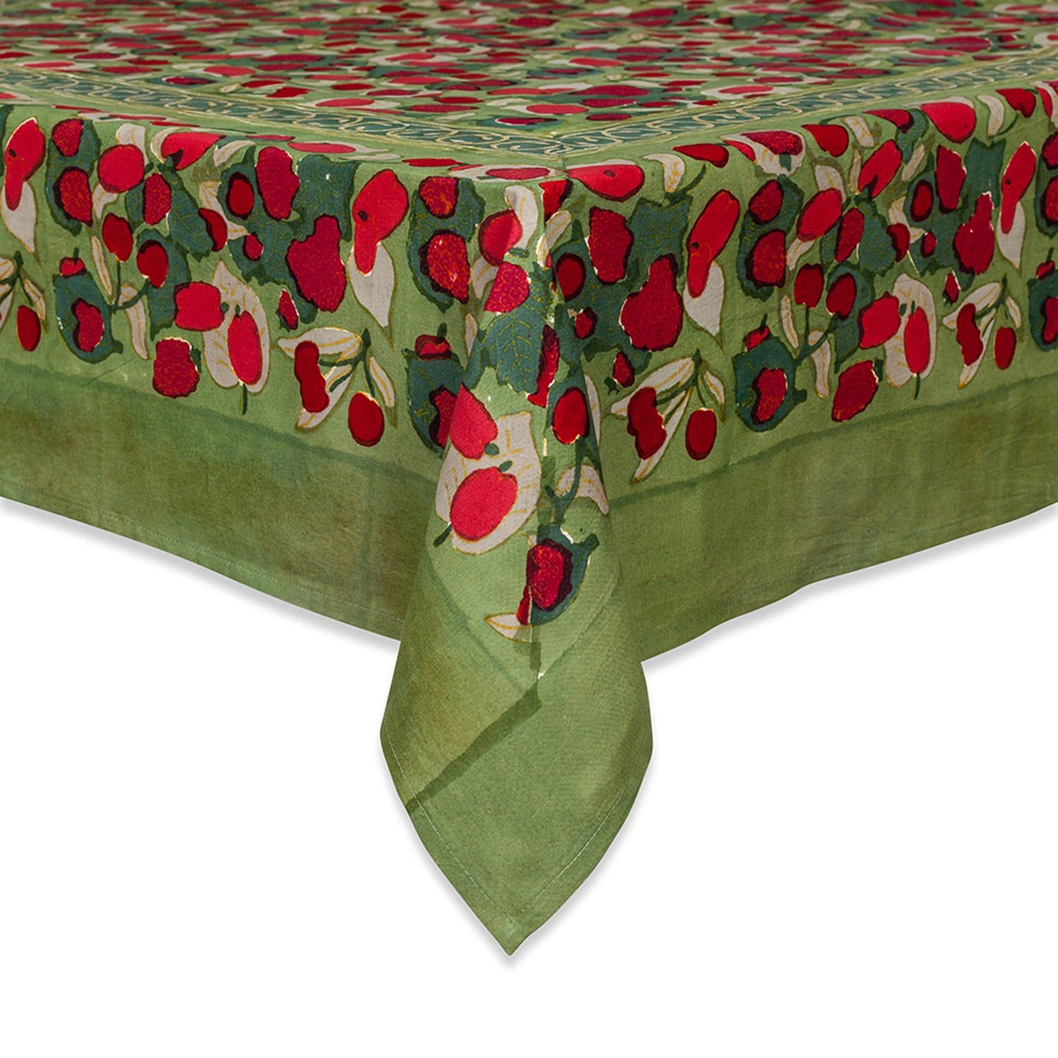 Fruit Red Green 90 Round Table Cloth