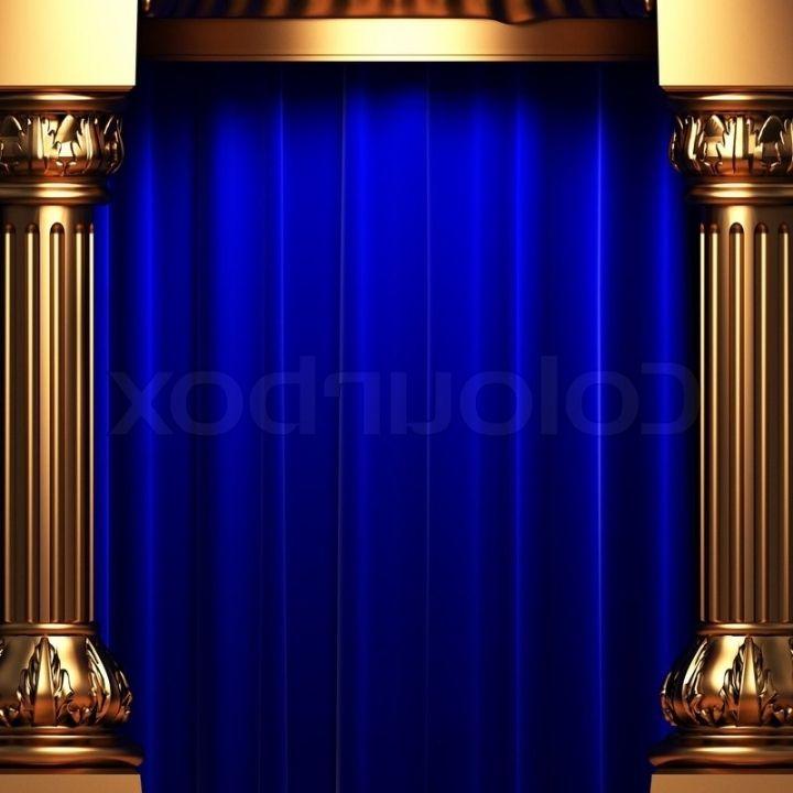 Blue Velvet Curtain Curtains Design Gallery Intended For Killer ...