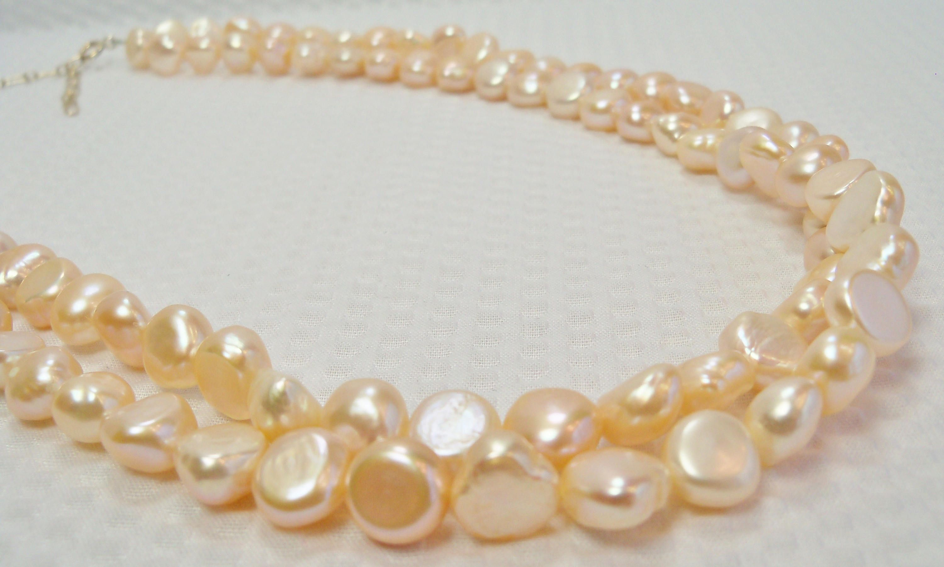 pinkpeachn peach pearls products glass pink prl czech round color imitation pearl