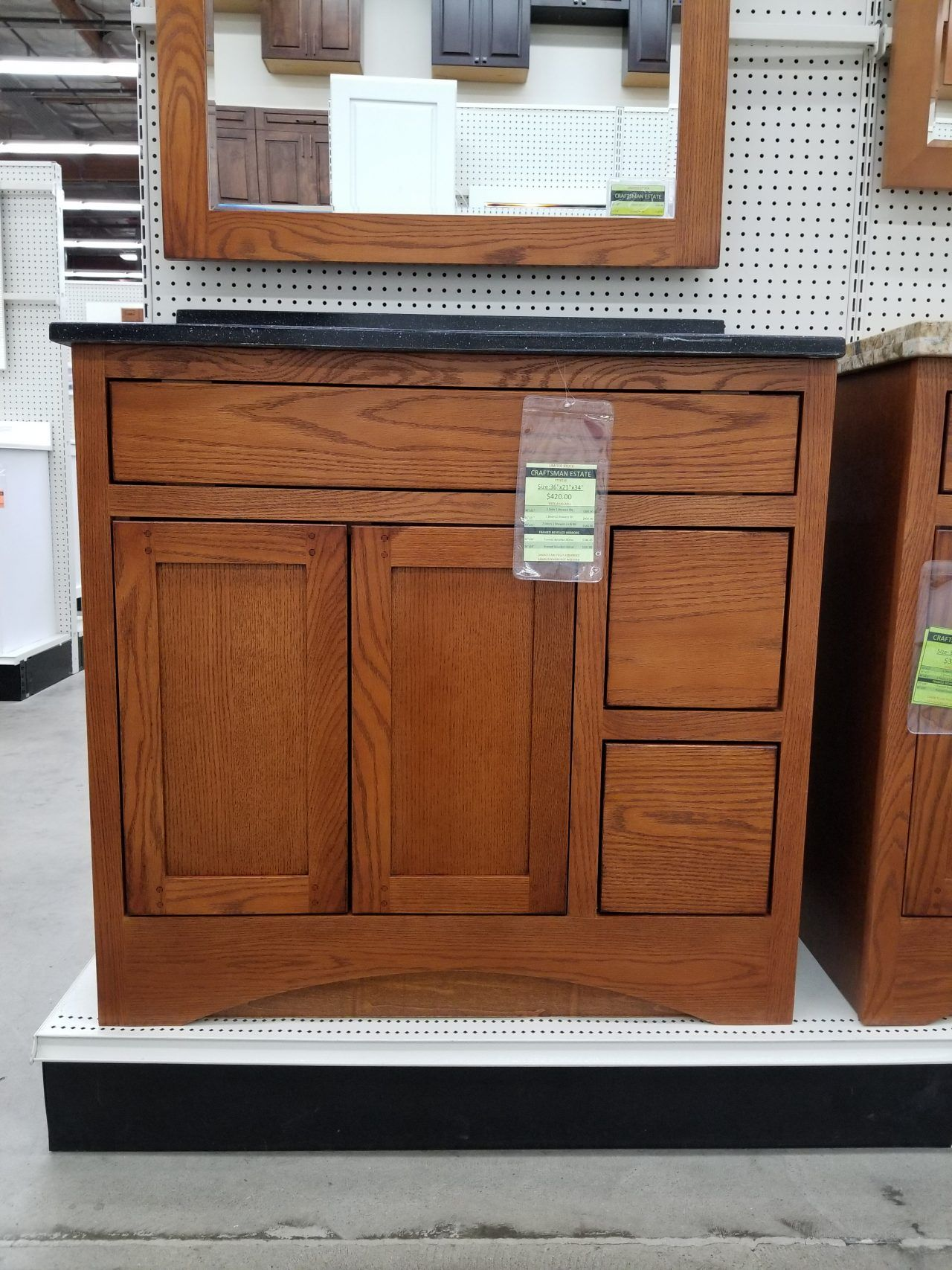 Craftsman Estate Vanity Closeout Home Kitchen Cabinets In