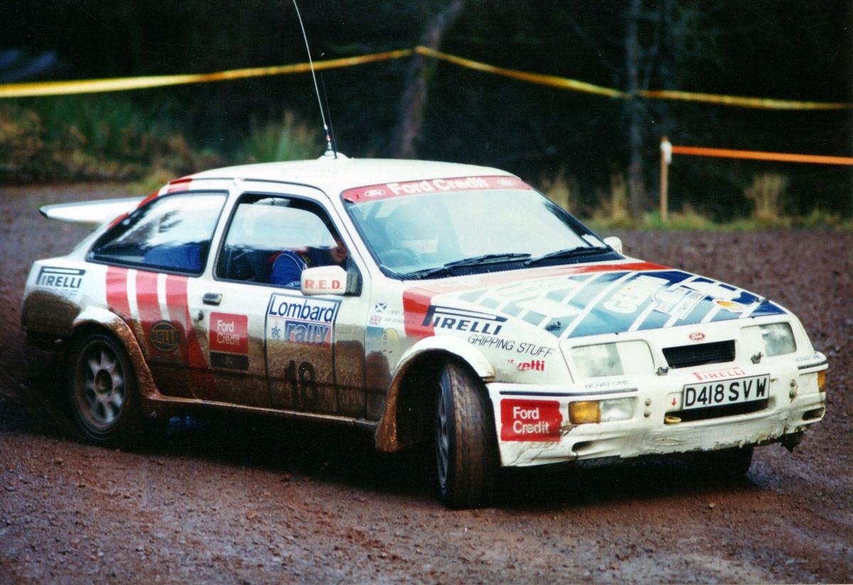 Ford Sierra Cosworth Rally Car Catching Air Racing Speed Power